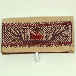 Embroidered Wallet/ Clutch Egyptian Pattern